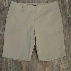 NWT Ann Taylor tan bermuda shorts